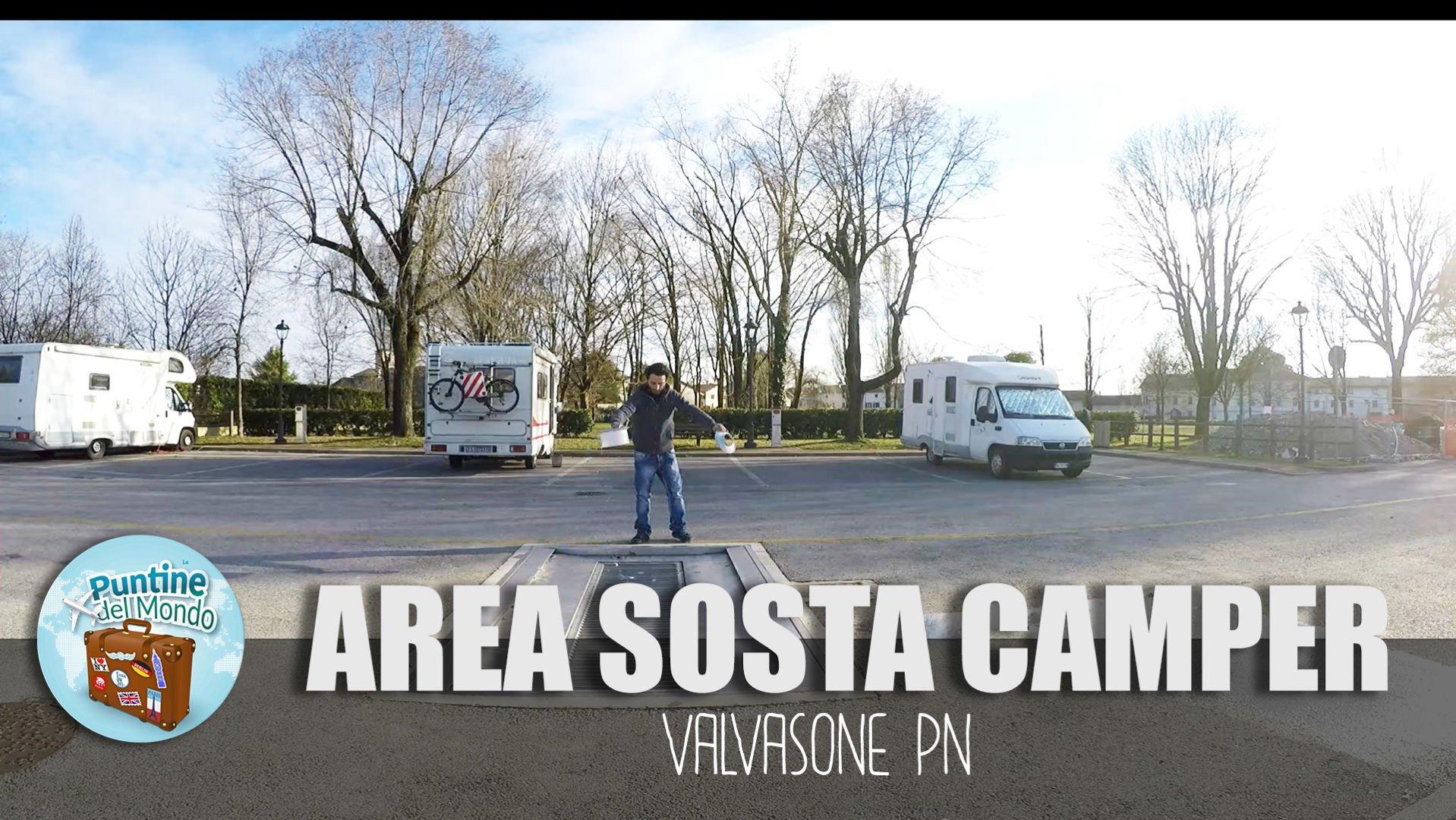 Area Sosta Camper gratuita al borgo di Valvasone PN