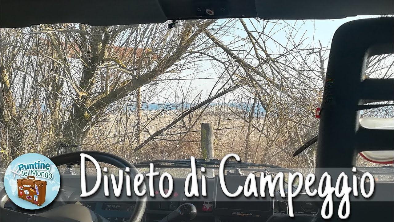 Sosta libera in camper in spiaggia riva mare a Ca' Savio VE in Veneto