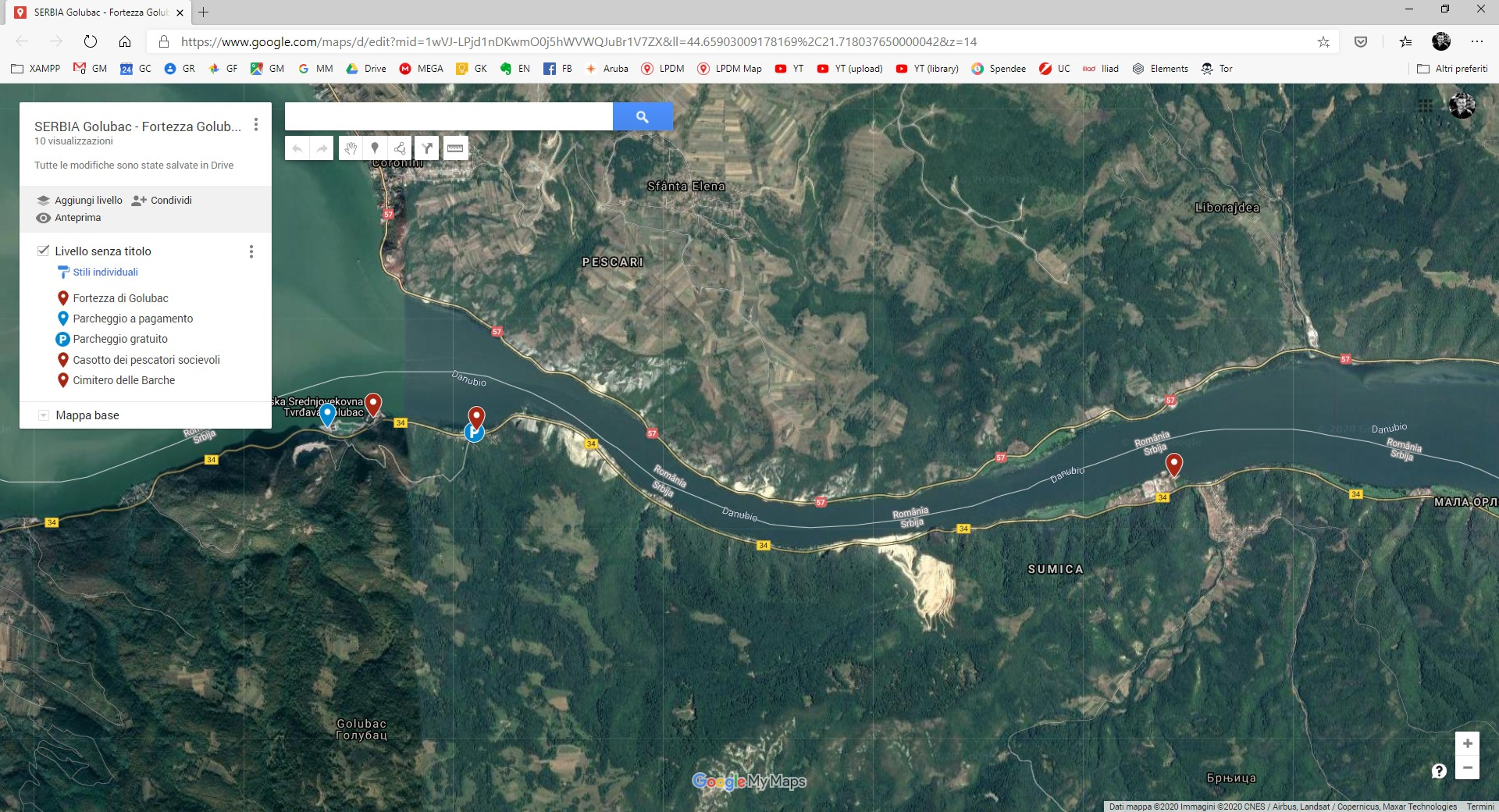 Puntine posizioni GPS Google My Maps MyMaps di Le Puntine del Mondo