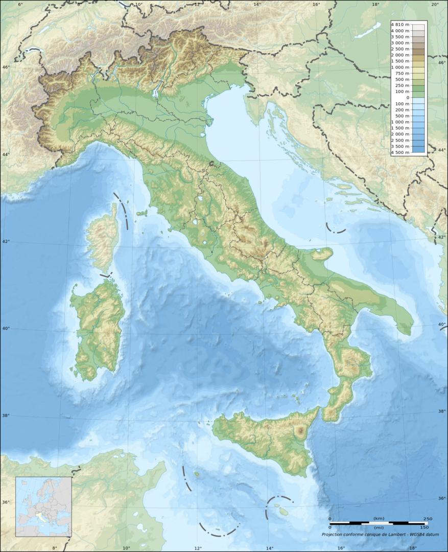 Cartina Fisica Spagna Muta.Mappa Italia Fisica Muta Le Puntine Del Mondo