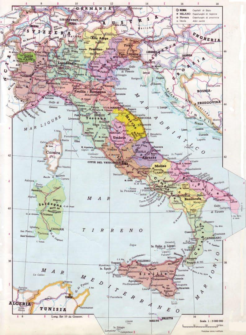 Immagini Cartina Italia Politica.Mappa Italia Politica Le Puntine Del Mondo