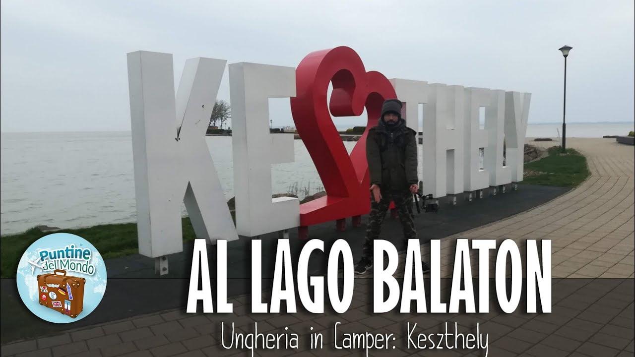 Lago Balaton Lake a Keszthely Ungheria in Camper