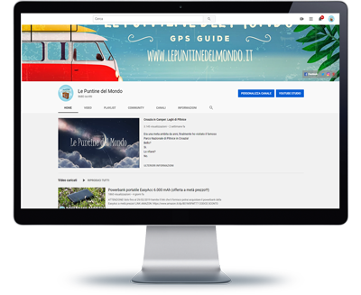 Monitor homepage YouTube Le Puntine del Mondo LPDM 2020